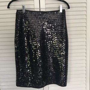 Mango Sequins Black Skirt